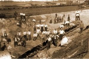 Prace przy budowie magistrali węglowej